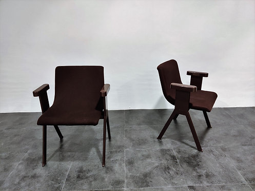 SOLD Mid century armchairs by Ettore Sottsass for Olivetti, 1970s