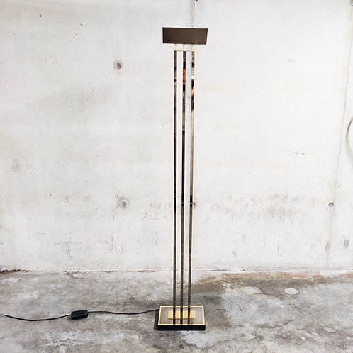 Brass Floor Lamp from Deknudt in the style of Willy Rizzo, 1970's