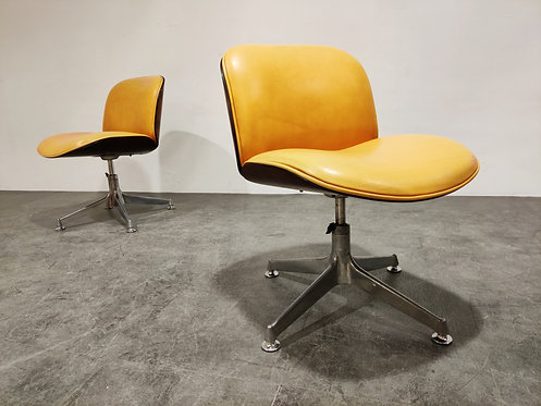 SOLD Mid century swivel chairs by Ico Parisi for MIM italy, 1960s