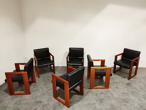 SOLD Set of 6 vintage dining chairs by Tobia & Afra Scarpa, 1970s