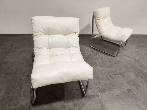 SOLD Vintage lounge chairs by Gillis Lundgren for Ikea, set of two,  1970s
