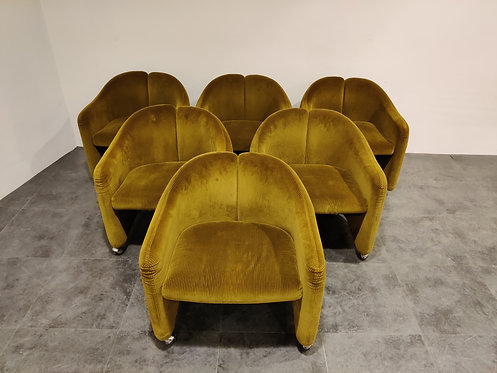 SOLD Armchairs by Eugenio Gerli for Tecno, 1960s