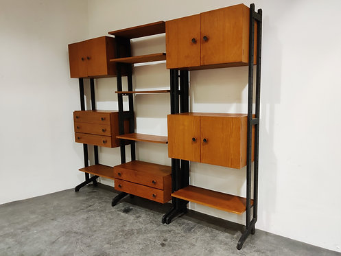 SOLD Mid century free standing wall unit by Simplalux, 1960s