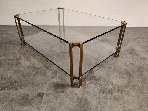 SOLD Two tier coffee table by Peter Ghyczy, 1970s