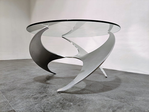 SOLD Vintage propellor coffee table by Knut  Hesterberg, 1960s