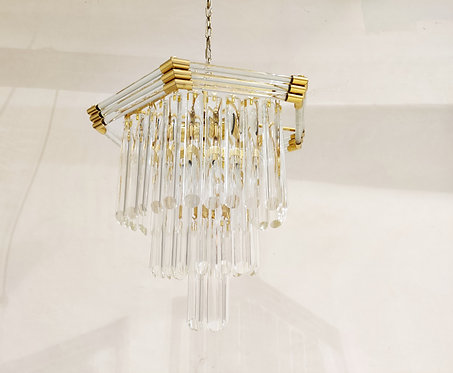 Vintage crystal Chandelier by Bakalowits & Sohne , 1980's