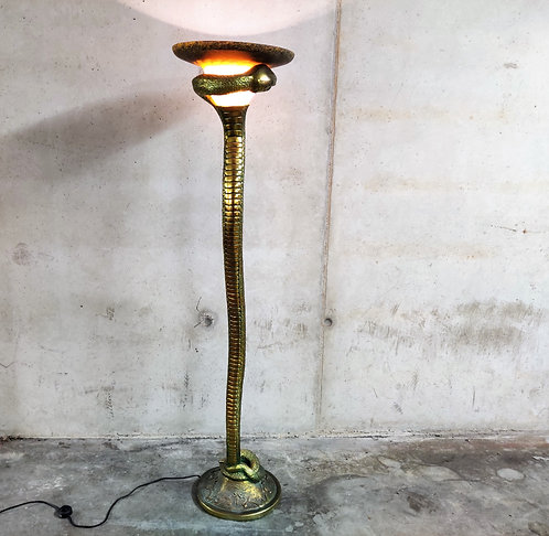 Bronze snake floor lamp after Edgar Brandt, 1960s