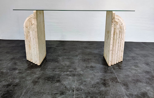 SOLD Vintage travertine console table, 1970s