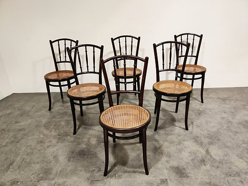 SOLD Set of 6 Bentwood Chairs by Thonet, 1920's Austria