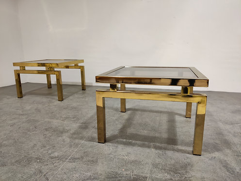 SOLD Vintage belgochrom coffee tables, 1970s