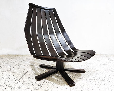 Swivel chair attributed to Hans Brattrud, 1960s