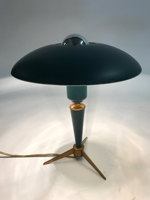 Vintage Mid-Century Modern Tripot Table Lamp by Louis Kalff for Philips - 1950's