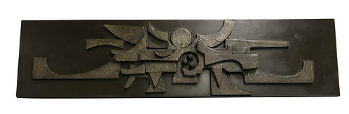 Large brutalist wall sculpture, 1970s