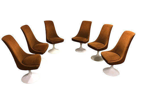 Vintage space age dining chairs, 1960s