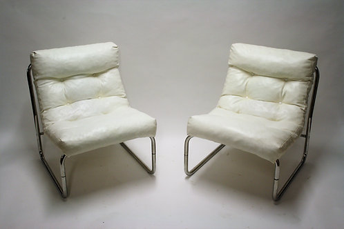 Vintage lounge chairs by Gillis Lundgren for Ikea, set of two,  1970s