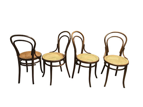 Thonet no. 14 Dining Chairs, 1950s, Set of 4