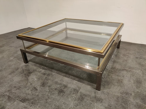 SOLD Vintage Sliding Top Coffee Table By Maison Jansen, 1970s