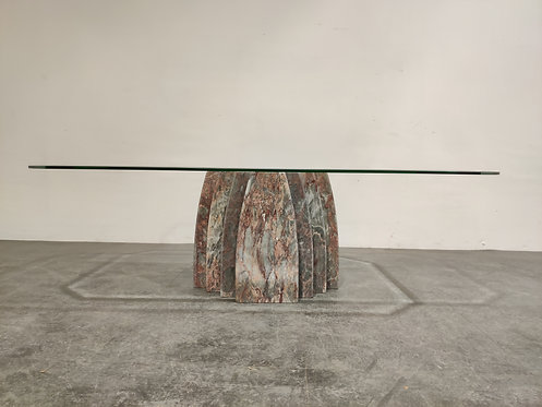 SOLD Marble coffee table, 1970s