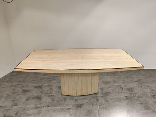 SOLD Willy rizzo dining table for Jean Charles (large model), 1970s