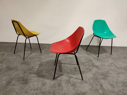 SOLD Vintage coquillage chairs by Pierre Guariche for Meurop, 1960s