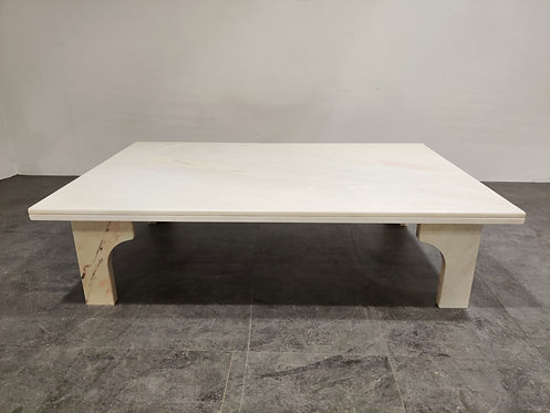 SOLD Vintage white marble coffee table, 1970s