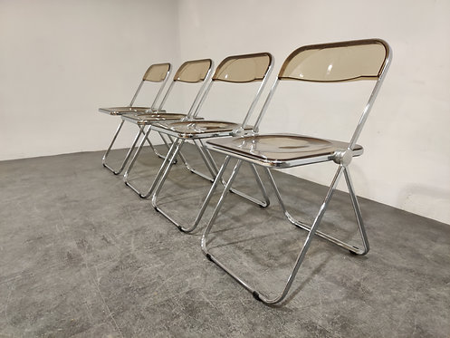 SOLD Vintage plia folding chairs by Castelli, 1970s, set of 4