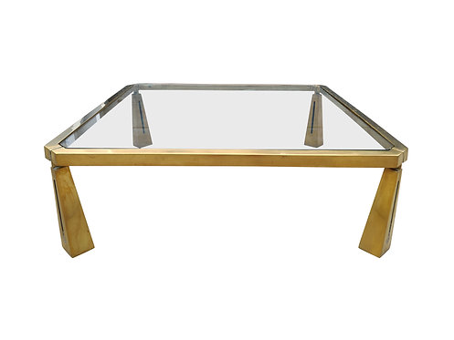 SOLD Bronze coffee table by Peter Ghyczy, 1980s