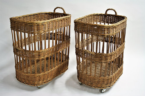 Very large baskets on wheels, 1950s