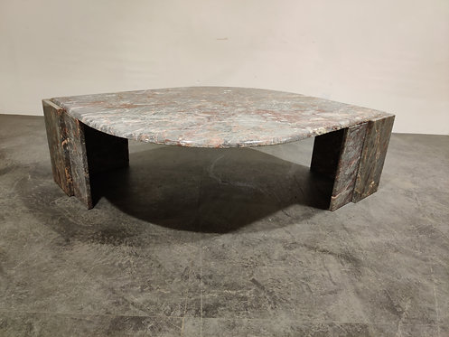 SOLD Vintage marble coffee table, 1970s