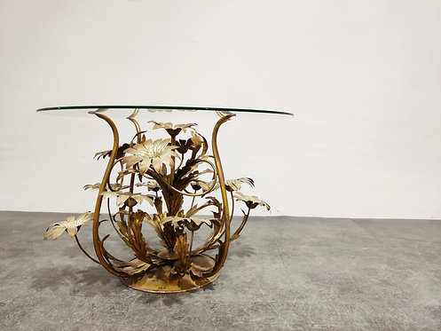 Vintage flower coffee table table, italy 1960s