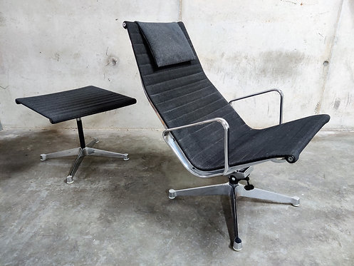 SOLD Charles & Ray Eames EA124 and EA125 Lounge chair and ottoman