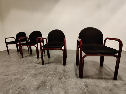 SOLD Set of 4 Orsay armchairs by Gae Aulenti for Knoll, 1970s