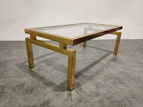 SOLD Vintage brass coffee table, 1970s