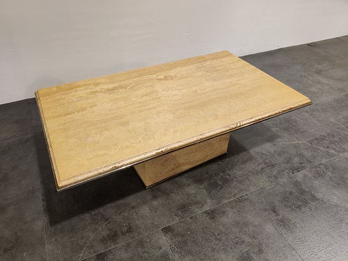 SOLD Travertine coffee table, 1980s