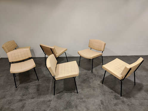 SOLD Vintage Conseil Chairs by Pierre Guariche 1950's, France