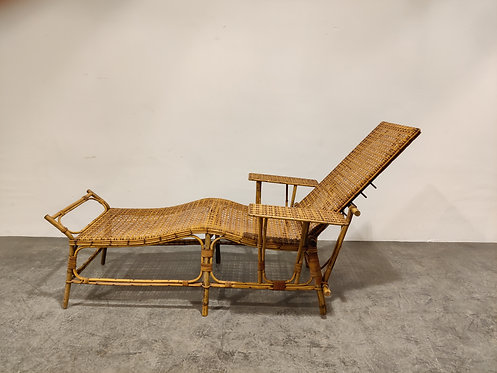 SOLD Mid century rattan and bamboo garden chair, 1950s