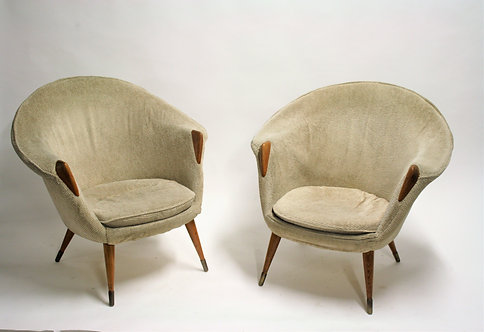 Danish Lounge Chairs by Nanna Ditzel, 1950s, Set of 2