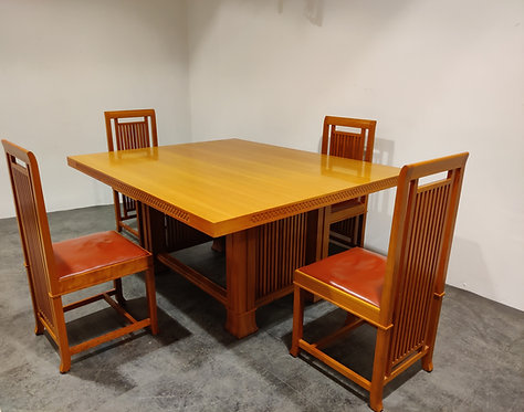 Dining set by Frank Lloyd Wright - Cassina, 1992