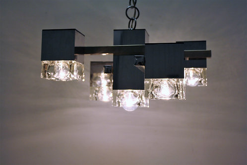 Vintage cubic chandelier by Tappital, 1970s