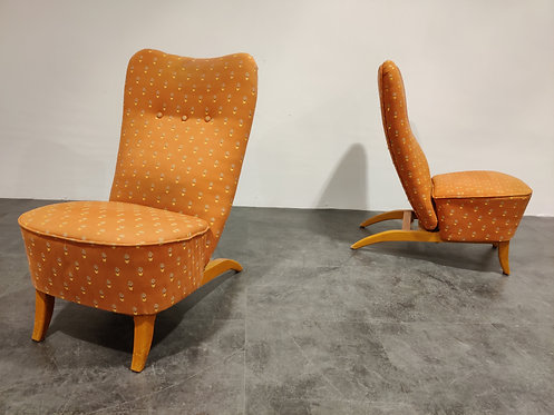 SOLD Pair of Congo chairs by Theo Ruth for Artifort, 1950s