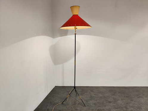 SOLD Vintage french diabolo floor lamp, 1950s