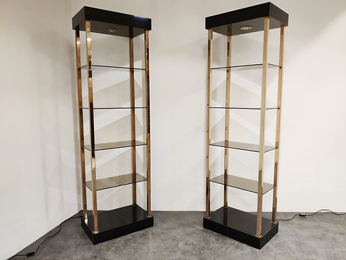 SOLD Pair of belgochrom wall units, 1970s