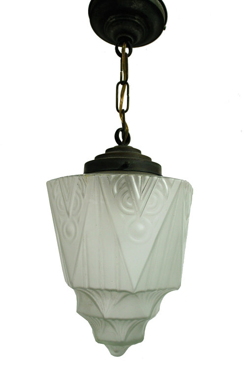 Art deco skyscraper pendant light 1930s