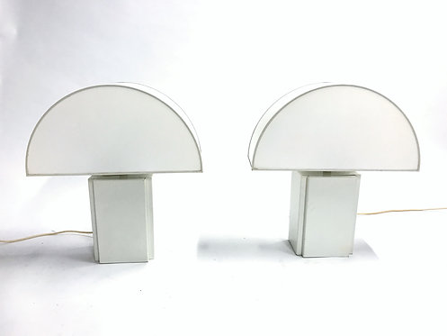 Sold Guzzini table lamps 'olympe' pair, 1970s