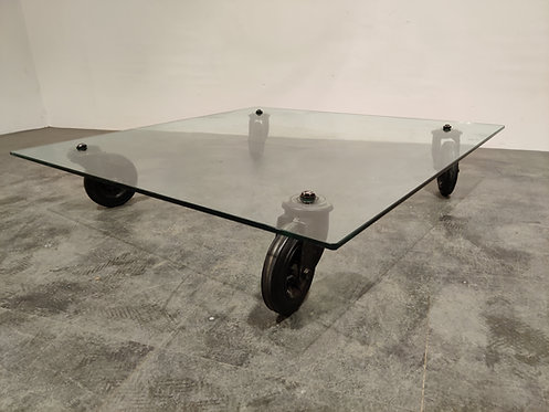 Coffee Table by Gae Aulenti for Fontana Arte, 1980s