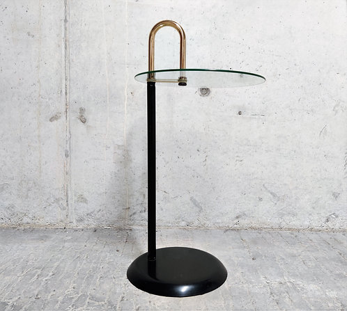 Midcentury Italian Messing and Glass Side Table, 1970s