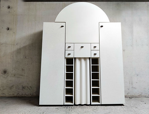 Interlübke Bar Cabinet with Fold-Down Plate, Germany, 1970s