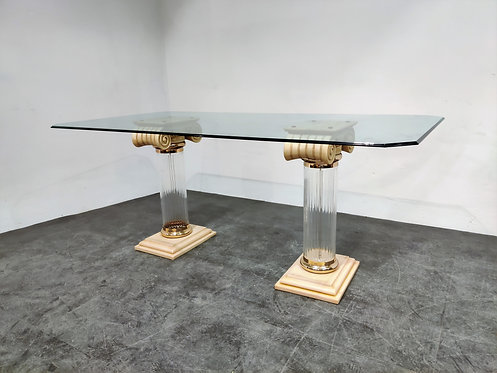 SOLD Vintage column dining table, 1980s