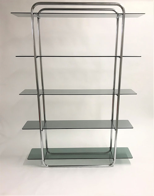 Vintage chrome free standing wall unit , 1970s