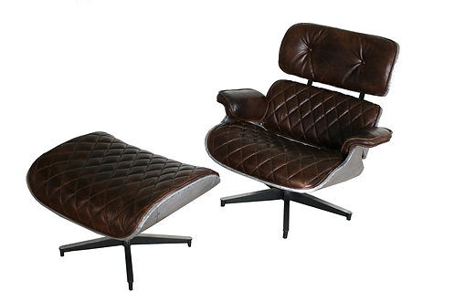 Eames Lounge Chair And Ottoman Aviator Style